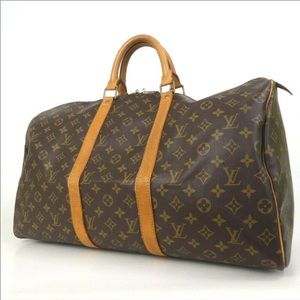 Auth Louis Vuitton Keepal 50 Travel Bag #4191L20
